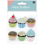 EK Success - Jolee's Boutique - 3 Dimensional Stickers - Vellum Cupcakes