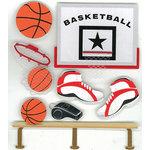 EK Success - Jolee's Boutique - 3 Dimensional Stickers - Basketball, CLEARANCE