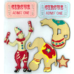 EK Success - Jolee's Boutique - Parcel Refresh Collection - 3 Dimensional Stickers - Circus
