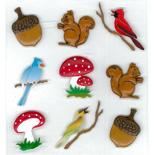 EK Success - Jolee's Boutique - Parcel Refresh Collection - 3 Dimensional Stickers - Relief Creatures