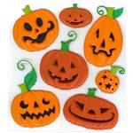 EK Success - Jolee's Boutique - Halloween - 3 Dimensional Stickers - Funny Pumpkins