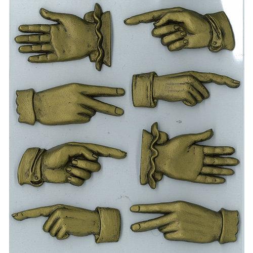 EK Success - Jolee's Boutique - Parcel Refresh Collection - 3 Dimensional Stickers - Metal Hands
