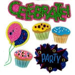 EK Success - Jolee's Boutique - 3 Dimensional Stickers with Foil Gem and Glitter Accents - Celebrate