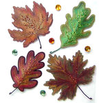 EK Success - Jolee's Boutique - 3 Dimensional Stickers with Glitter and Gem Accents - Vellum Leaves