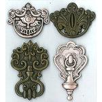 EK Success - Jolee's Boutique - Parcel Refresh Collection - 3 Dimensional Stickers - Vintage Door Knockers