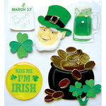 EK Success - Jolee's Boutique - St Patty's Day Collection - 3 Dimensional Stickers with Epoxy and Foil Accents - St Patrick's Day