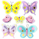 EK Success - Jolee's Boutique - 3 Dimensional Stickers with Gem and Glitter Accents - Spring Butterflies