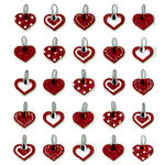 EK Success - Jolee's Boutique - Valentine - 3 Dimensional Stickers with Gem and Glitter Accents - Heart Repeats