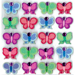 EK Success - Jolee's Boutique - 3 Dimensional Stickers with Gem and Glitter Accents - Bright Butterflies Repeats