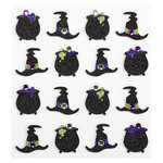 EK Success - Jolee's Boutique - Halloween - 3 Dimensional Stickers with Gem and Glitter Accents - Witches Hat Repeats