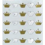 EK Success - Jolee's Boutique - Parcel Refresh Collection - 3 Dimensional Stickers with Foil and Gem Accents - Mini Crown Repeats