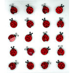 EK Success - Jolee's Boutique - 3 Dimensional Stickers with Glitter Accents - Lady Bugs Repeats