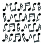 EK Success - Jolee's Boutique - 3 Dimensional Stickers with Gem and Glitter Accents - Music Notes Repeats
