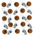 EK Success - Jolee's Boutique - 3 Dimensional Stickers with Gem and Glitter Accents - Basketball and Whistle Repeats