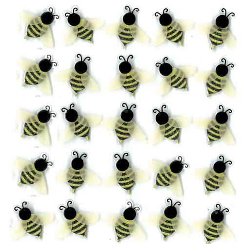 EK Success - Jolee's Boutique - 3 Dimensional Stickers with Gem and Glitter Accents - Bees Repeats