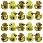 EK Success - Jolee's Boutique - 3 Dimensional Stickers with Gem and Glitter Accents - Ducks Repeats