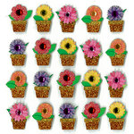 EK Success - Jolee's Boutique - 3 Dimensional Stickers with Gem and Glitter Accents - Flowers in Pots Repeats