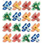 EK Success - Jolee's Boutique - 3 Dimensional Stickers with Gem and Glitter Accents - Plane Repeats