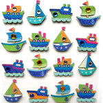 EK Success - Jolee's Boutique - 3 Dimensional Stickers with Gem and Glitter Accents - Boat Repeats