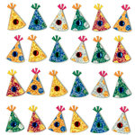 EK Success - Jolee's Boutique - 3 Dimensional Stickers with Gem and Glitter Accents - Party Hats Repeats