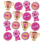 EK Success - Jolee's Boutique - 3 Dimensional Stickers with Gem and Glitter Accents - I Love Mom Repeats