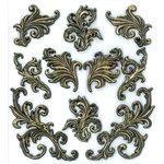 EK Success - Jolee's Boutique - Parcel Refresh Collection - 3 Dimensional Stickers - Stamped Flourishes