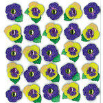 EK Success - Jolee's Boutique - 3 Dimensional Stickers with Gem and Glitter Accents - Pansy Repeats