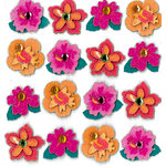 EK Success - Jolee's Boutique - 3 Dimensional Stickers with Gem and Glitter Accents - Tropical Flower Repeats