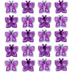 EK Success - Jolee's Boutique - 3 Dimensional Stickers with Gem and Glitter Accents - Purple Butterflies Repeats