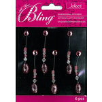 EK Success - Jolee's Boutique - All That Bling Collection - 3 Dimensional Stickers - Oval Swing - Pink