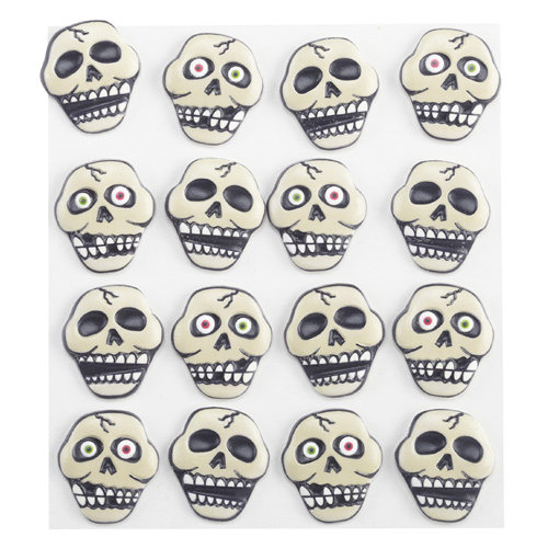 EK Success - Jolee's Boutique - Halloween - 3 Dimensional Stickers - Skull-N-Bones Cabochons