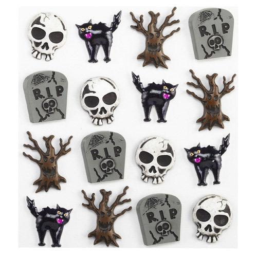 EK Success - Jolee's Boutique - Halloween - 3 Dimensional Stickers - Graveyard Cabochons