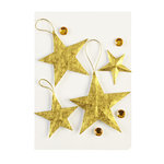 EK Success - Jolee's Boutique - Parcel Collection - Christmas - 3 Dimensional Stickers with Foil and Gem Accents - Goldleaf Star