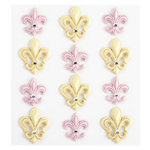 EK Success - Jolee's Boutique - Around the World Collection - 3 Dimensional Stickers with Gem Accents - Paris Fleur Di Lis