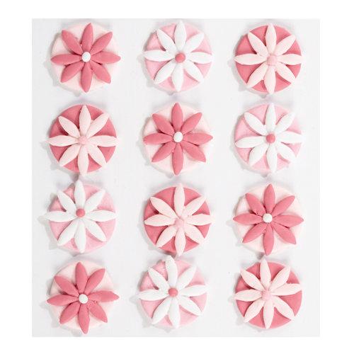 EK Success - Jolee's Boutique - Confections Collection - 3 Dimensional Stickers - Pink Fondant Flowers