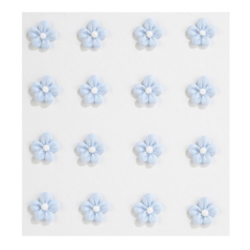 EK Success - Jolee's Boutique - Confections Collection - 3 Dimensional Stickers - Mini Baby Blue Icing Flowers