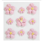 EK Success - Jolee's Boutique - Confections Collection - 3 Dimensional Stickers - Small and Large Pink Icing Flowers