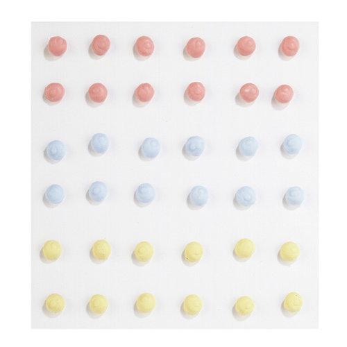 EK Success - Jolee's Boutique - Confections Collection - 3 Dimensional Stickers - Multicolor Icing Dots