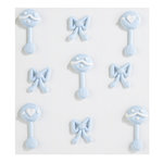 EK Success - Jolee's Boutique - Confections Collection - 3 Dimensional Stickers - Baby Boy Icing Rattles