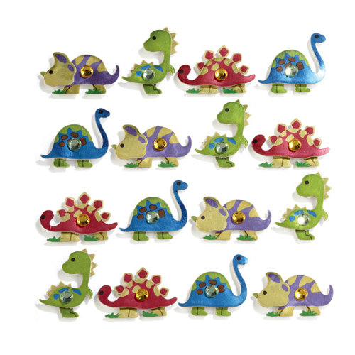 EK Success - Jolee's Boutique - 3 Dimensional Stickers with Foil and Gem Accents - Dinosaurs Repeats
