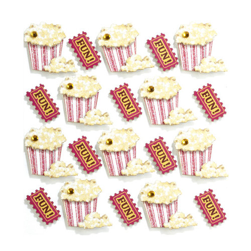 EK Success - Jolee's Boutique - 3 Dimensional Stickers with Gem and Glitter Accents - Popcorn Repeats