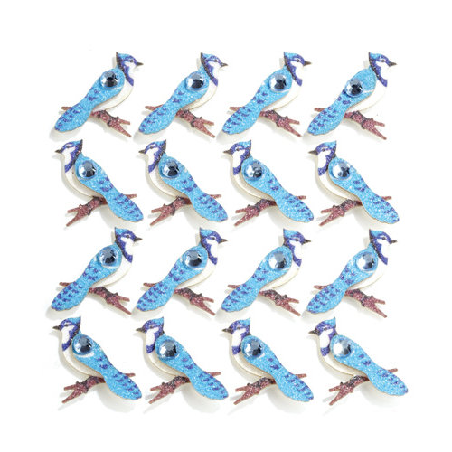 EK Success - Jolee's Boutique - 3 Dimensional Stickers with Gem and Glitter Accents - Blue Jays