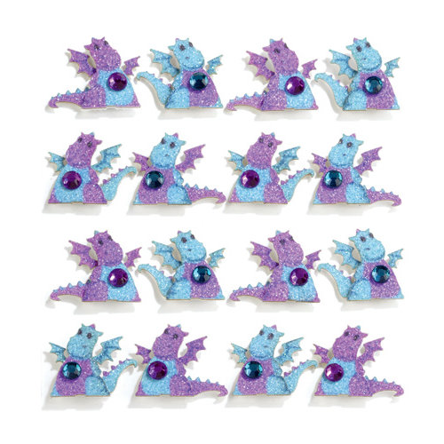 EK Success - Jolee's Boutique - 3 Dimensional Stickers with Gem and Glitter Accents - Dragons Repeats