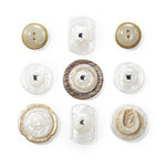 EK Success - Jolee's Boutique - French General Collection - Buttons - Layered Mother of Pearl