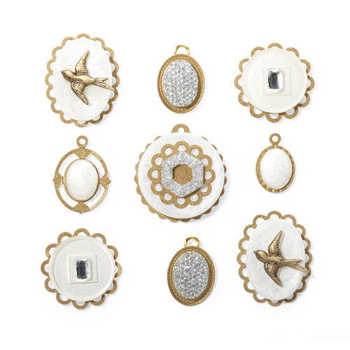 EK Success - Jolee's Boutique - French General Collection - Jewels - Layered Mother of Pearl