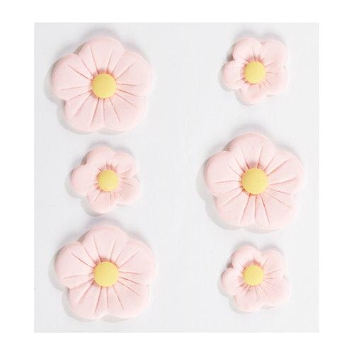 EK Success - Jolee's Boutique - Confections Collection - 3 Dimensional Stickers - Large Pink Fondant Flowers