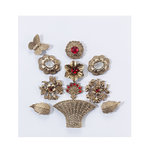 EK Success - Jolee's Boutique - French General Collection - Metal Bouquet with Gems