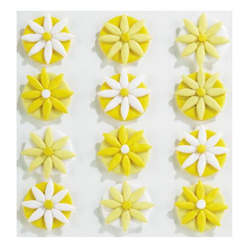 EK Success - Jolee's Boutique - Confections Collection - 3 Dimensional Stickers - Yellow Fondant Flowers