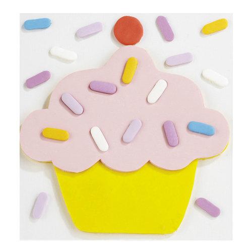 EK Success - Jolee's Boutique - Confections Collection - 3 Dimensional Stickers - Fondant Cupcake