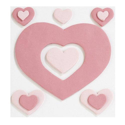 EK Success - Jolee's Boutique - Confections Collection - 3 Dimensional Stickers - Fondant Hearts